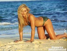 Lindsey Vonn com o corpo pintado