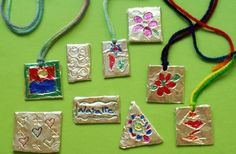 Foil Pendants-Another idea for camp this summer!