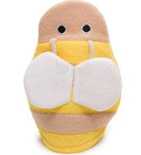We're buzzing about this bath mitt to use in the tub. Not only is it soft, but it's also adorable. #registry