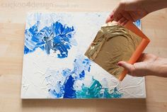 very easy tutorial on how to paint abstract art | abstract video art tutorial | colorful art with gold leaf foil