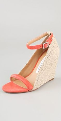 Is it so wrong to have a major crush on a pair of coral wedge sandals...?