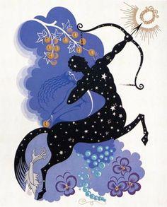 Erte Sagittarius - Zodiac Suite 1982