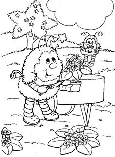 Rainbow Brite Friends Are Playing Happy Coloring Pages