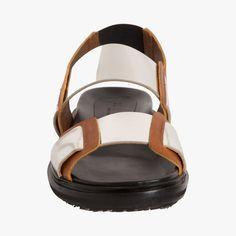 Sandales plates cuir bicolore, Marni #VuAuBonMarche #LeBonMarche #shoes #mode #femme #fashion #women