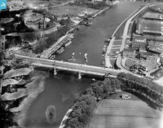 Part of the Aerofilms collection found on the Britain from Above site. Old Pictures, Old Photos, Local History, Family History, Nottingham City, Old West, Britain, Past, Bridge