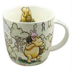 Licensed 100 Acre Wood Winnie The Pooh Fine China Mug in Tin Original Drawings Disney Coffee Mugs, Cute Coffee Mugs, Cool Mugs, Tea Mugs, My Coffee, Coffee Cups, Winnie The Pooh Mug, Winnie The Pooh Friends, Pooh Bear