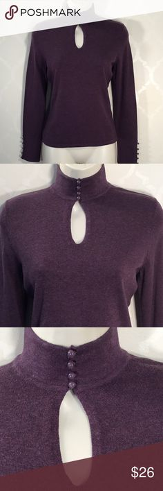 🆕THE LIMITED PURPLE SWEATER The Limited Sweater ➖ GORGEOUS ➖ 4 Front Buttons lead to Keyhole ➖Pretty 5 Button Detail on Bottom of Sleeves ➖ NWOT .... NEVER WORN! The Limited Sweaters
