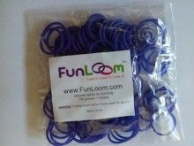 Purple Violet FunLoom Rubber Bands