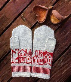 Ravelry: Byvotter Cold November mittens pattern by MaBe Mittens Pattern, Fair Isle Knitting, Ravelry, Hand Warmers, November, Knit Crochet, Knitting Patterns, Winter Hats, Gloves