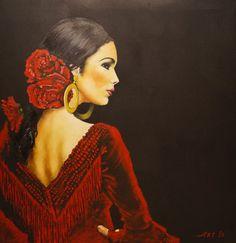 "Saatchi Art Artist: Arthur Isayan; Oil 2013 Painting ""Flamenco I"""