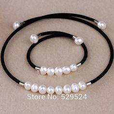 At a loss 100% real natural freshwater pearl jewelry for women necklace and bracelet charm black velvet Torques accessaries  - http://www.aliexpress.com/item/At-a-loss-100-real-natural-freshwater-pearl-jewelry-for-women-necklace-and-bracelet-charm-black-velvet-Torques-accessaries/32346392937.html