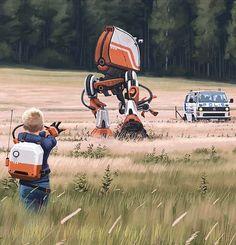 Sci-Fi – 30 peintures futuristes de Simon Stålenhag