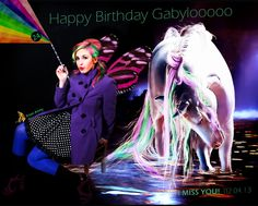 A personalised b card for my unique friend gabyloo!