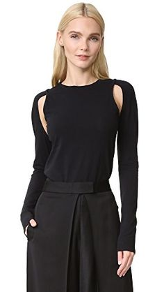 8094259af17c0 DKNY Women s Knit Top with Cutouts