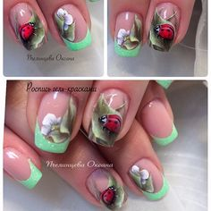 Wonderful Spring nail art designs.