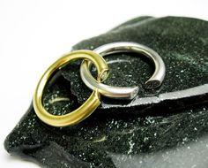 1980s Luxurious 14K White or Yellow Gold Band Rings w. Genuine Diamonds, Handmade, USA.    by TampicoJewelry, $380.00