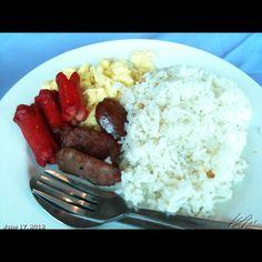 Typical Filipino breakfast...