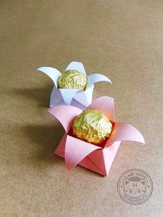 Forminha para doces em Origami