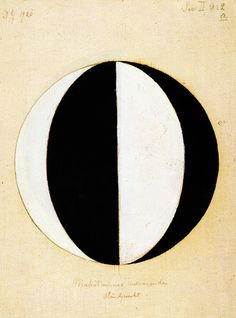 Hilma Af Klint, swiss, 1920. One of the first abstract artists and a member of the group of 5