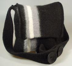 Schultertaschen - FrüLein Schultertasche unisex Tasche Strickfilz - ein Designerstück von FrueLein bei DaWanda