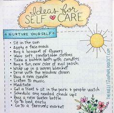 Ideas for Self Care | www.thebulletjournaladdict.com