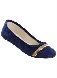 56dc2fdcdf Sapatilha azul com friso dourado Tenis Mocassim