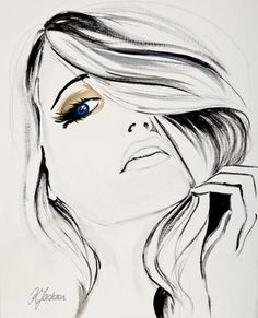 This is a high quality fine art print from my original watercolour fashion illustration portrait drawing. The size of the image is A3. I have