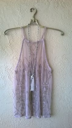 Just arrived!!  Free People violet beaded Gatsby racerback crossover Camisole