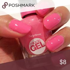 "Sally Hansen miracle gel Sally Hansen Miracle Gel Nail Polish ""310-SHOCK WAVE""  Miracle Nail Gel provides a plump salon gel-look without the salon price.  Up to 7 days of intense color and shine.    Spectacular gel-like shine and plumpness.    Removes easily. Sephora Other"