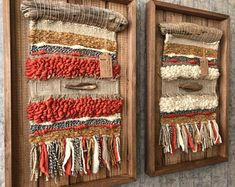Artículos similares a Woven wall hanging en Etsy Weaving Wall Hanging, Weaving Art, Tapestry Weaving, Loom Weaving, Hand Weaving, Wall Hangings, Circular Weaving, Yarn Wall Art, Creative Textiles