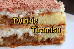 TWINKIE TIRAMISU... from DISNEY'S Pop Century Resort.  Only Disney could turn America's favorite snack cake into a gourmet dessert. Traditional tiramisu goes extreme with the addition of Twinkies in this fabulous concoction of sweetness.