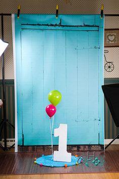 Pullback, 1st birthday, photo studio