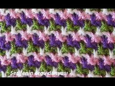 İki Renkli Raylar Örgü Modeli - YouTube