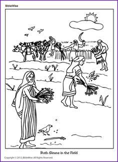 Coloring (Ruth Gleans in the Field) - Kids Korner - BibleWise
