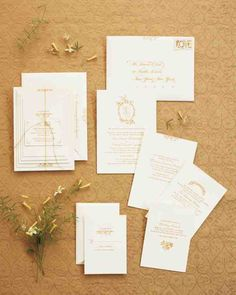 Wedding Invitations inspired by old storybook illustrations