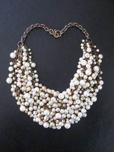 Hundreds and hundreds of pearls.