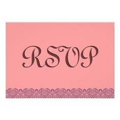 #Peach #Lace #RSVP #Wedding #Response #Invite http://www.zazzle.com/peach_lace_rsvp_wedding_response_v005_invitation-161593410054469134