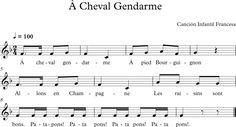 À Cheval Gendarme. Canción Infantil Francesa
