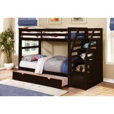 Found it at Wayfair - Cosmo Twin Bunk Bed with Trundle and Storage
