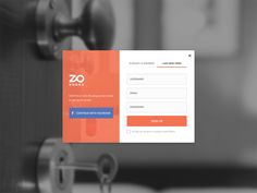 Greetings Awesome Designers,  Here is the shot for the login and signup card when you want your account in ZO Rooms. It's yet to come in our next release of zorooms.com  Hit L to show your UI love ...
