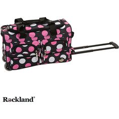 Rockland New Multi Dot 22-inch Carry On Rolling Upright Duffel Bag