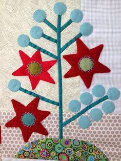 Butterfly Threads: December 2014.  Crimson Tweed design by Sue Spargo.
