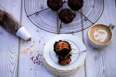 Chokolademuffins, glutenfri, mælkefri og sukkerfri