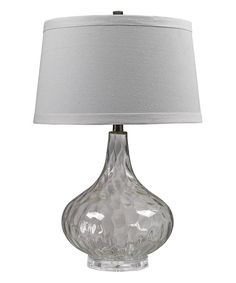 Clear Water Glass Table Lamp