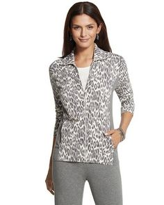 Chico's Zenergy Animal-Print Jacket #chicos chicossweeps