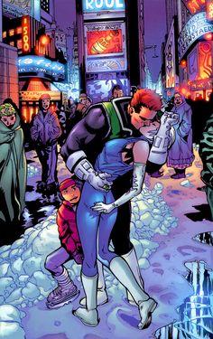 Green Lantern Guy Gardner and Ice by Patrick Gleason