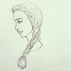 Haven't posted in awhile so heres a doodle i made at work ;) #illustration #illustration #graphicdesigner #girl #plait #sketch #art