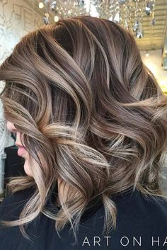 Blonde Highlights on Short Brown Hair, Balayage Brown Bob Blonde, Spring Hair, Hair Balayage Color Brown. Hair Color Balayage, Blonde Color, Balayage Bob, Ash Blonde Balayage Short, Balayage Hairstyle, Short Blonde, Haircolor, Red Blonde, Brown Balayage