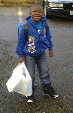 Jacobs first day of school. Kindergarten.