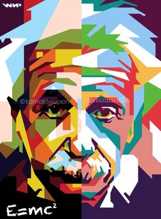 Albert Einstein Colab: & @ kamald eight - Party Decorations - Science Tableau Pop Art, Pop Art Images, Michael Jackson Art, Portrait Cartoon, Value In Art, Pop Art Posters, Pop Art Portraits, Pics Art, Plastic Art